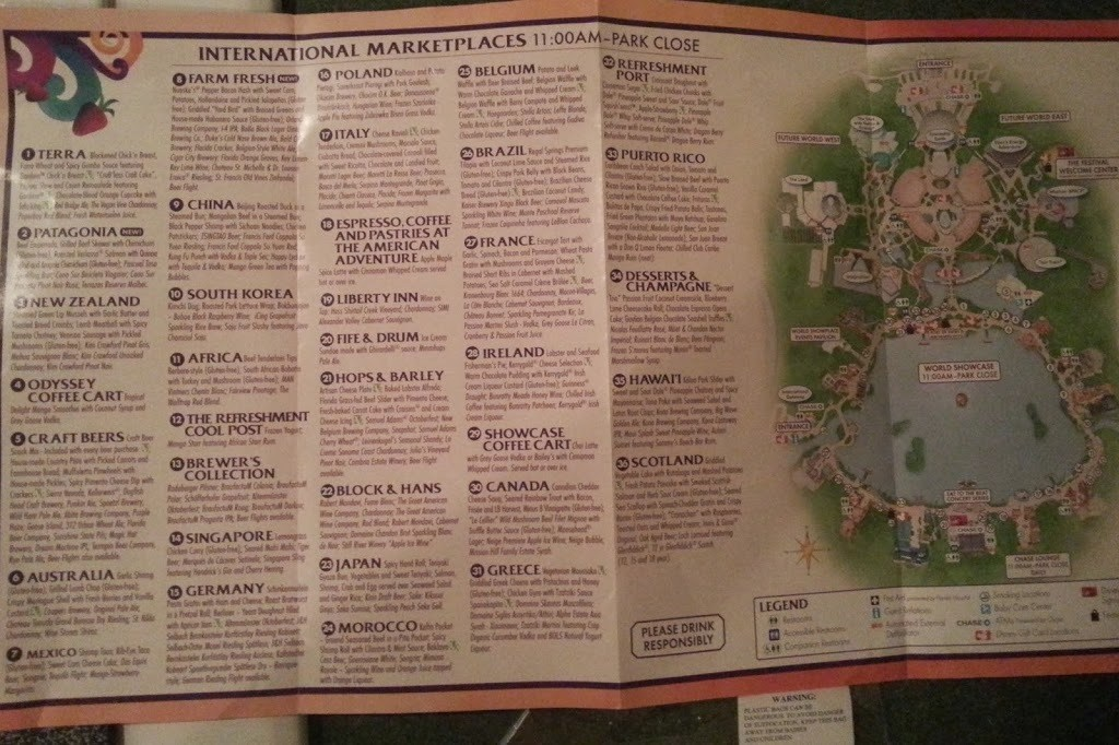 Food and Wine Festival Map