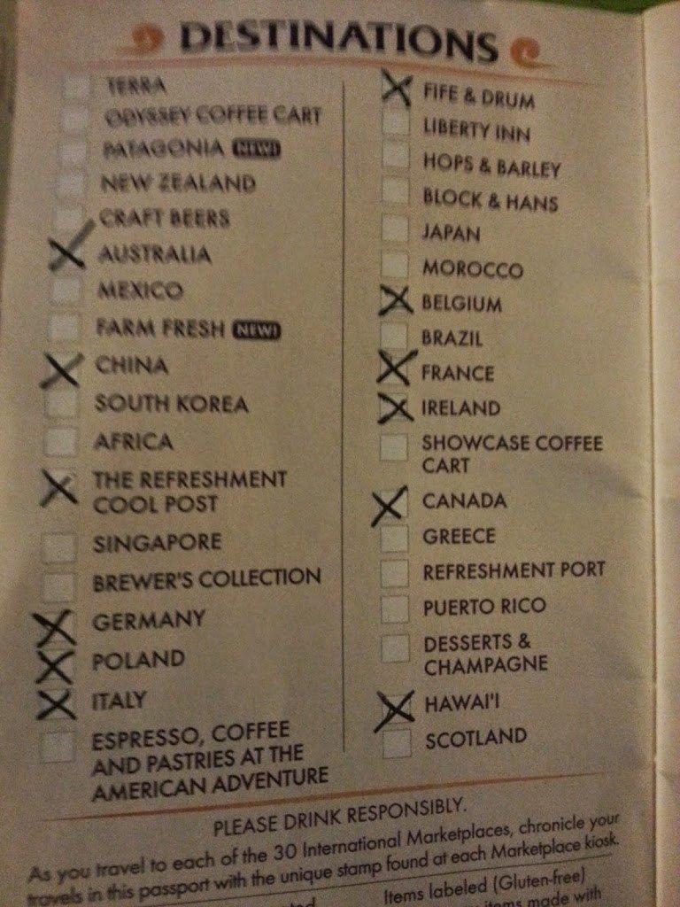 Disney Food and Wine Passport