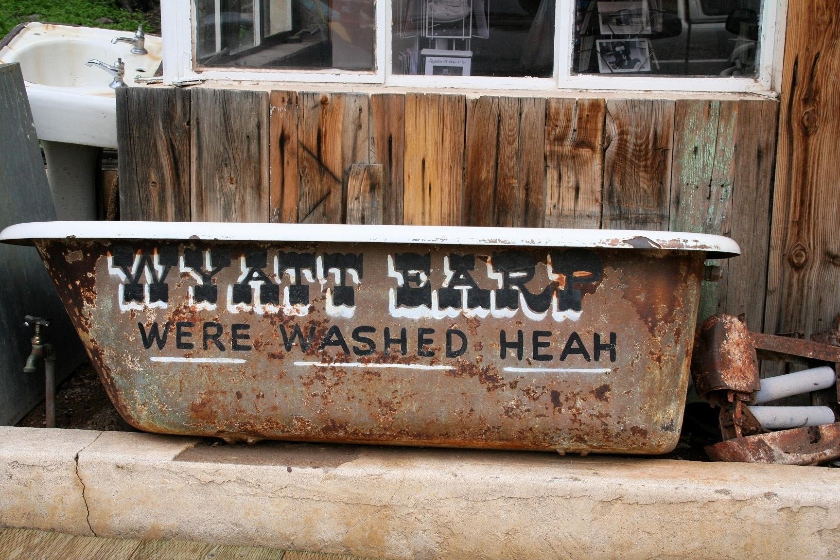 Wyatt Earp bathtub