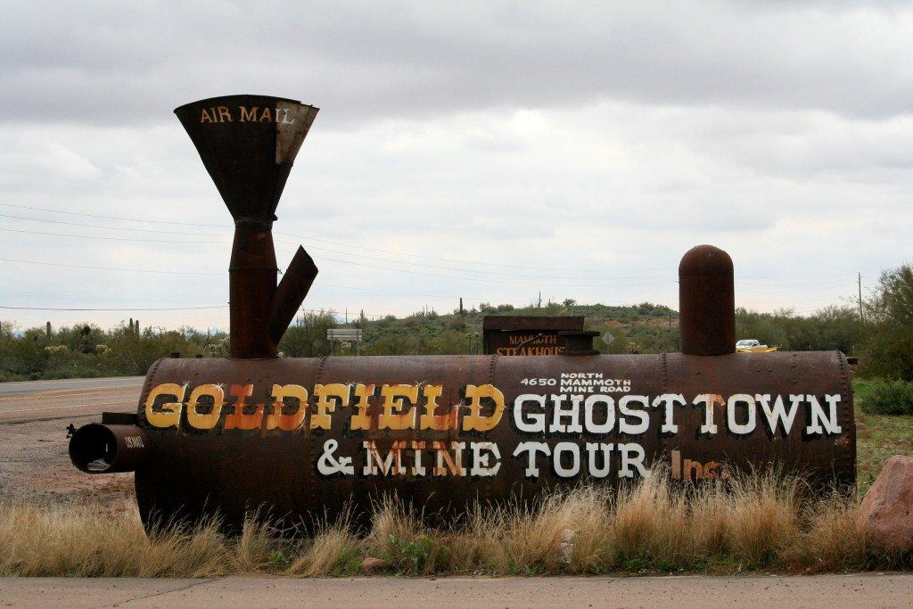 Goldfield Ghost Town & Mine Tour old train display