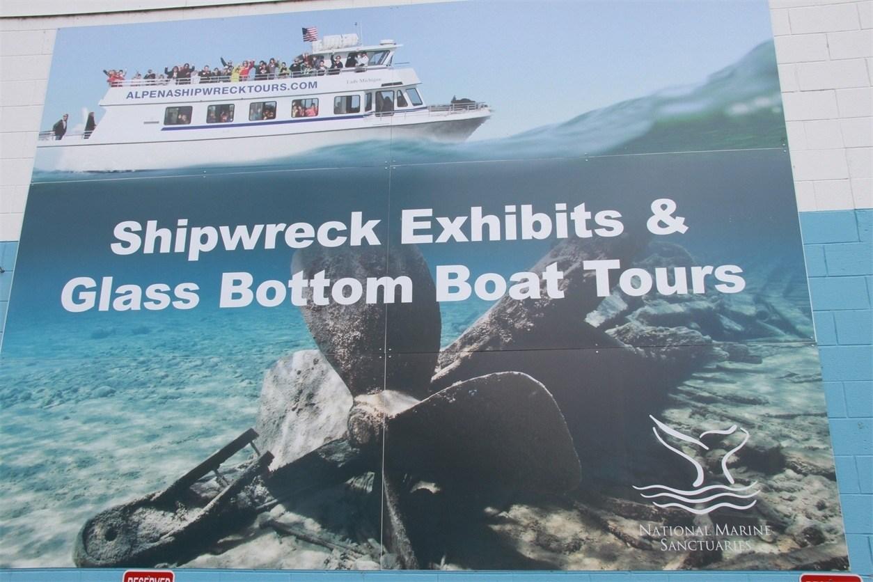 Alpena Shipwreck Tours sign