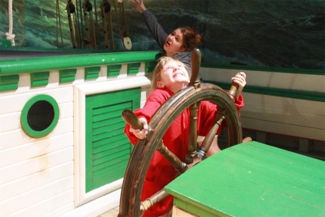 Kayla and Madison playing shipwreck