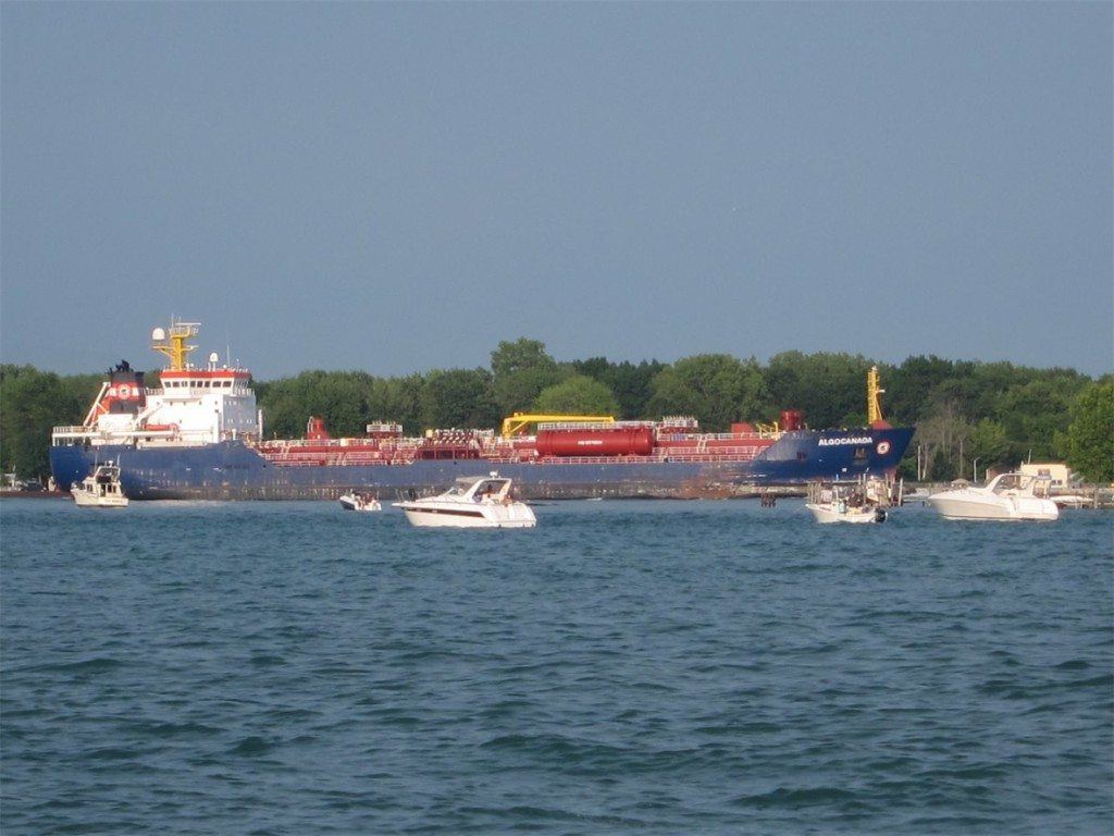 Freighter on Lake St. Clair