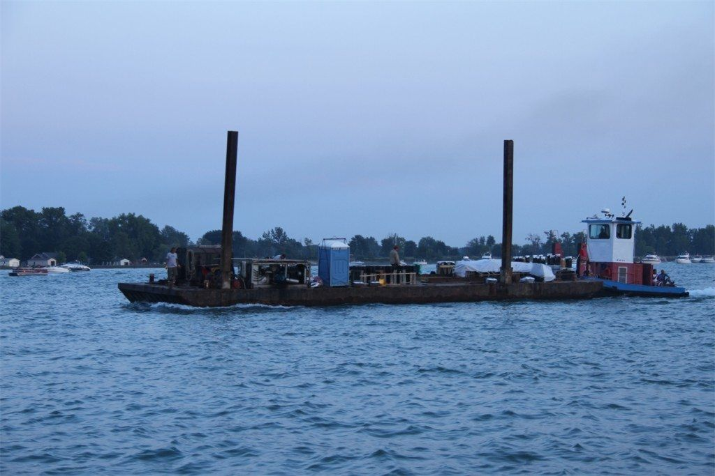 Algonac Fireworks barge