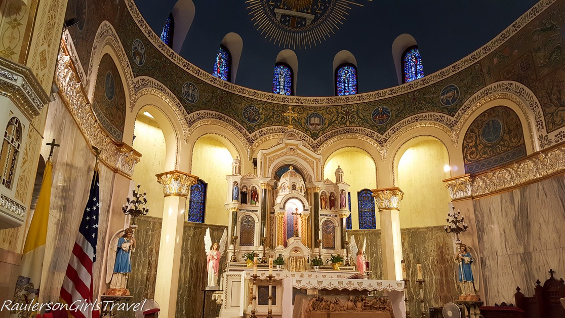 Close-up view of the Sanctuary of St. Hyacinth