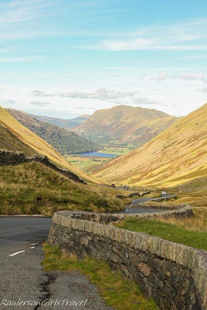 twisted road through the Lake District