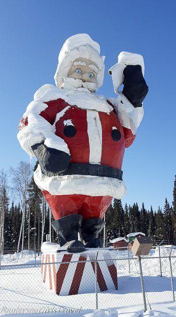 Giant Santa Claus statue at North Pole, Alaska