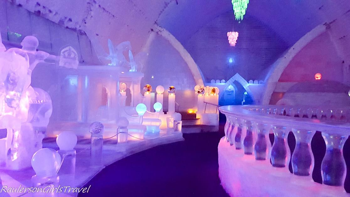 inside the Aurora Ice Museum - Chena Hot Springs Resort
