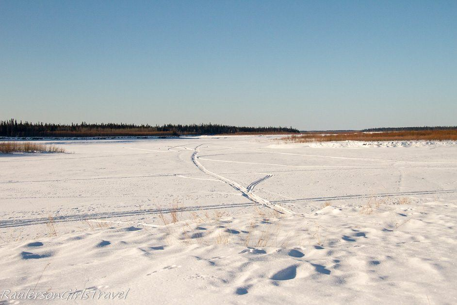 Snow-covered Yukon River