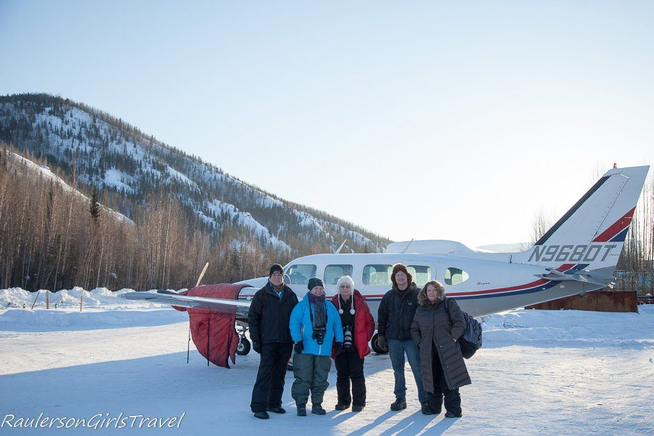 Flightseeing group to Arctice Circle and Beaver Village