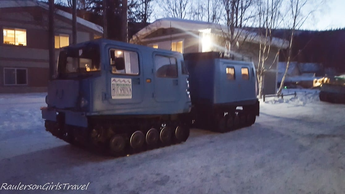 Snow coach for the Aurora Viewing Tour