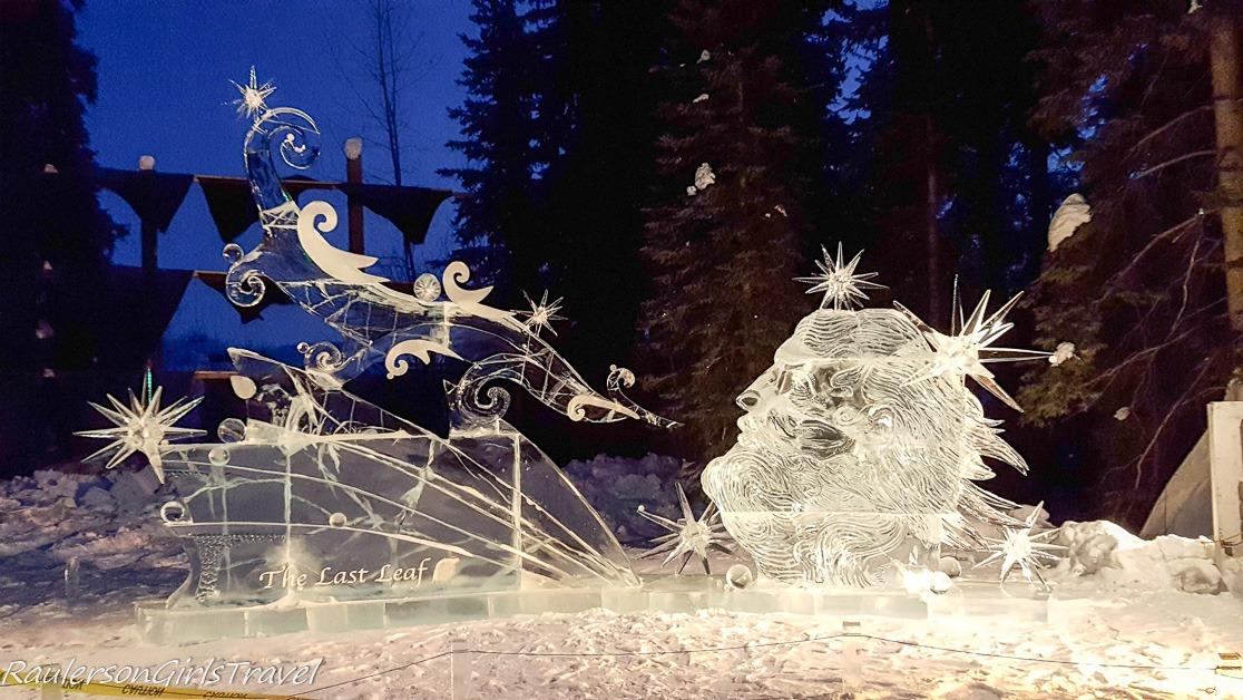 The Last Leaf Ice Sculpture