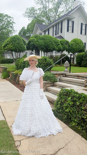 Southern belle posing for a photo in Twickenham Historic Home district