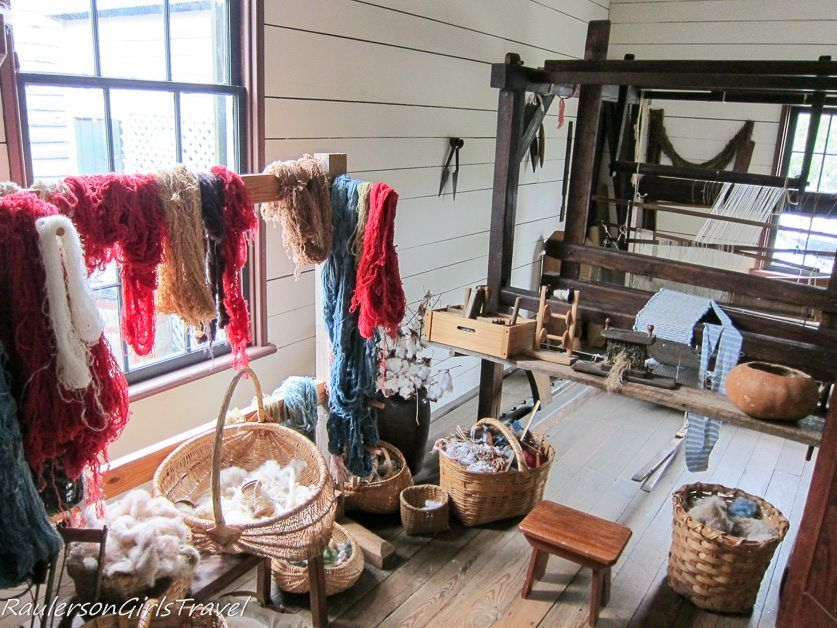 Loom Room in Neal House Constitution Village