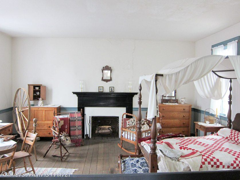 Bedroom in the Neal House at Constitution Village, Huntsville, Alabama