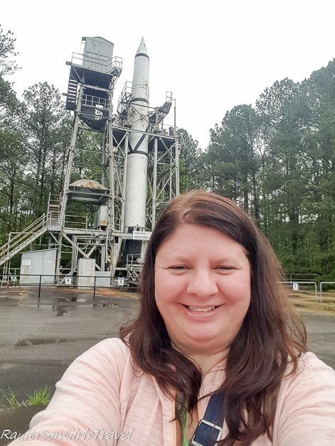 Heather Raulerson at Historic Redstone Test Site for Saturn 5 Rocket