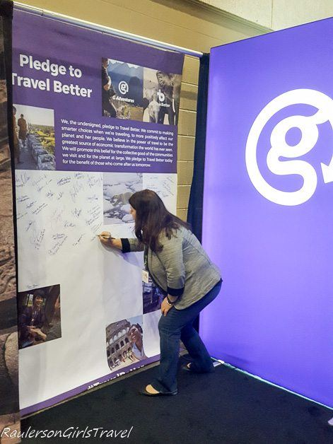 signing the Travel Better pledge