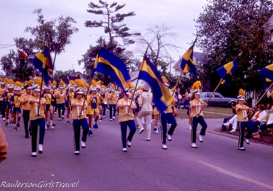 Marching Band in the Algonac Pickerel Tournament Parade