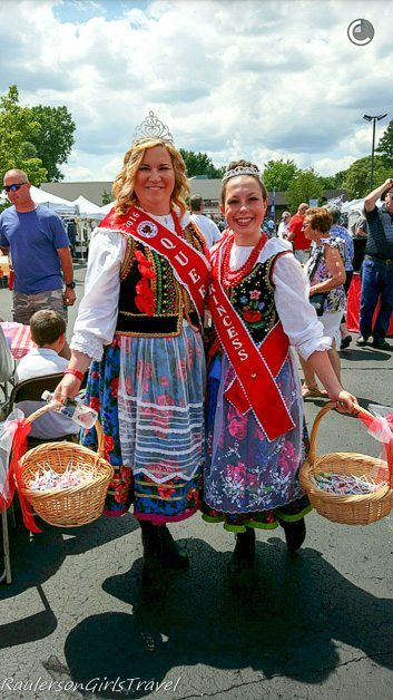 Polish Queen & Princess at the American Polish Festival