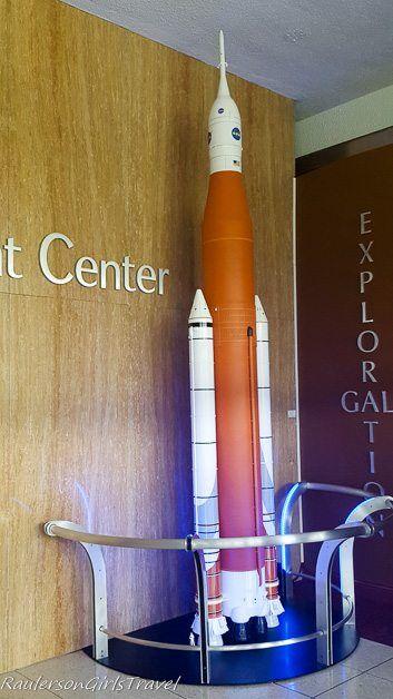 Display of the SLS Rocket