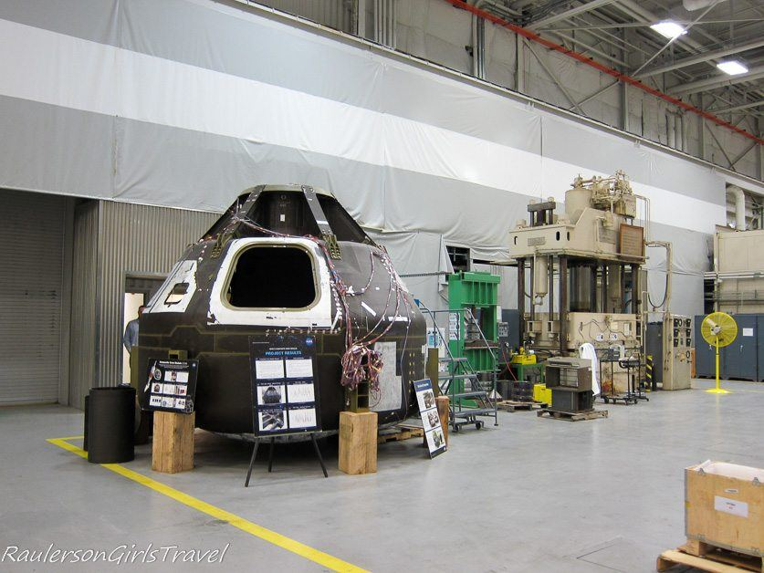 Lunar module in the Advance Manufacturing Building at Marshall Space Flight Center