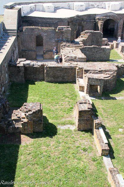 officer quarters ruins at Fort Sumter