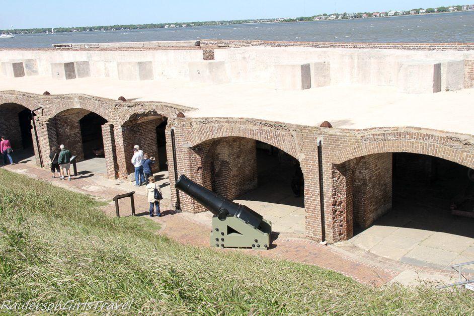 Left-face Casement Ruins at Fort Sumter