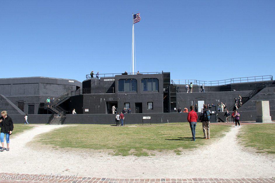 Battery Huger in Fort Sumter built in 1899 for Spanish American War