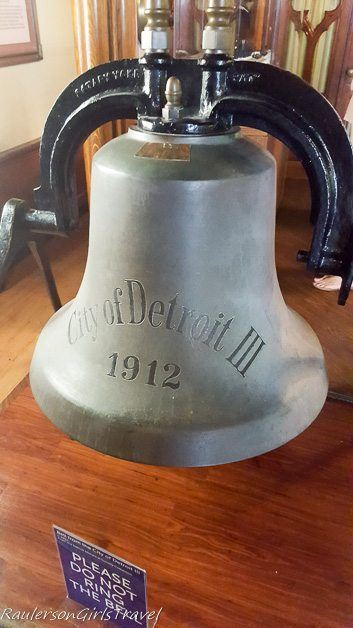 City of Detroit III bell at the Dossin Great Lakes Museum