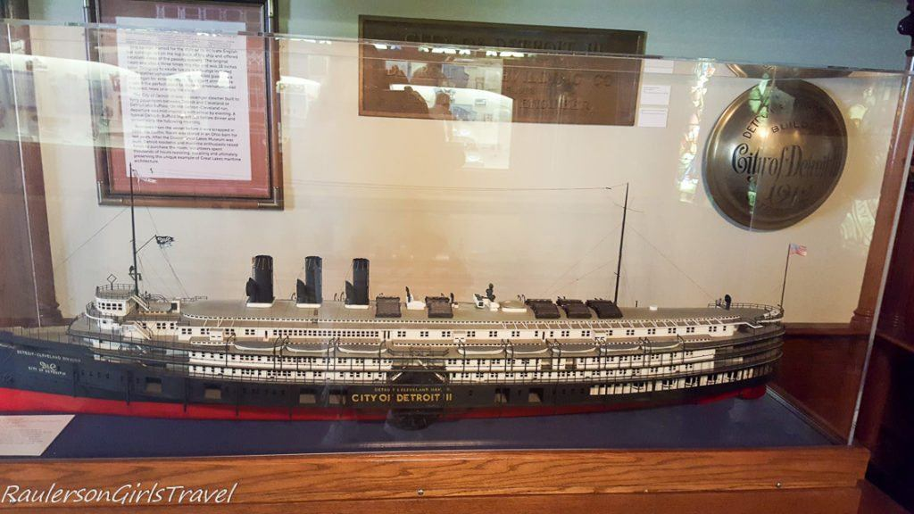 City of Detroit ship display at Dossin Great Lakes Museum