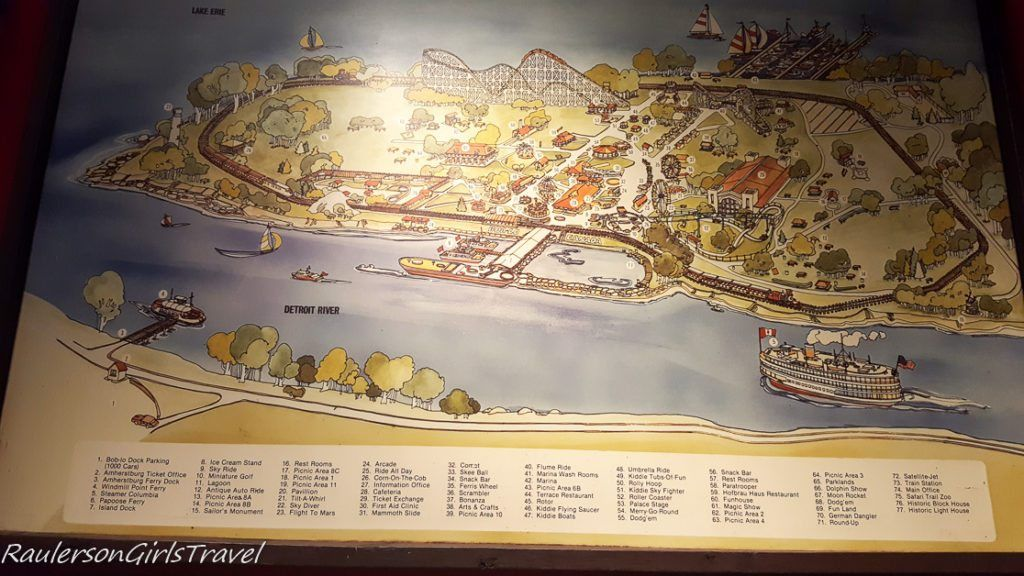 Map of Bob-Lo Island