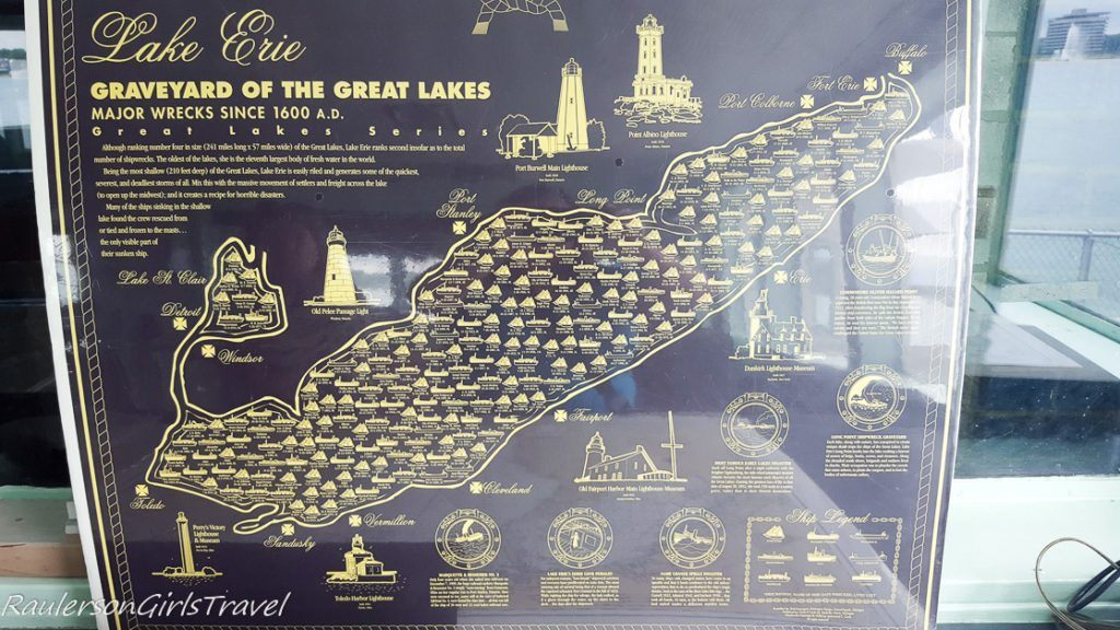 Graveyard of the Great Lakes Map at Dossin Great Lakes Museum