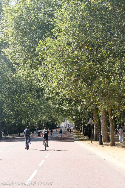 Green Park bicycle riding in London, England