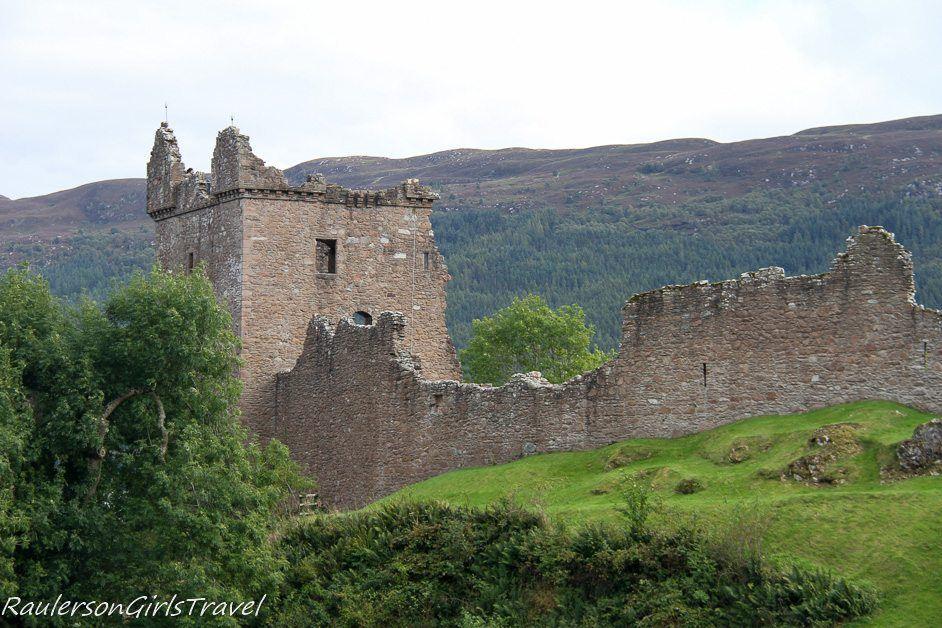 Urquhart Castle ruins in Scotland