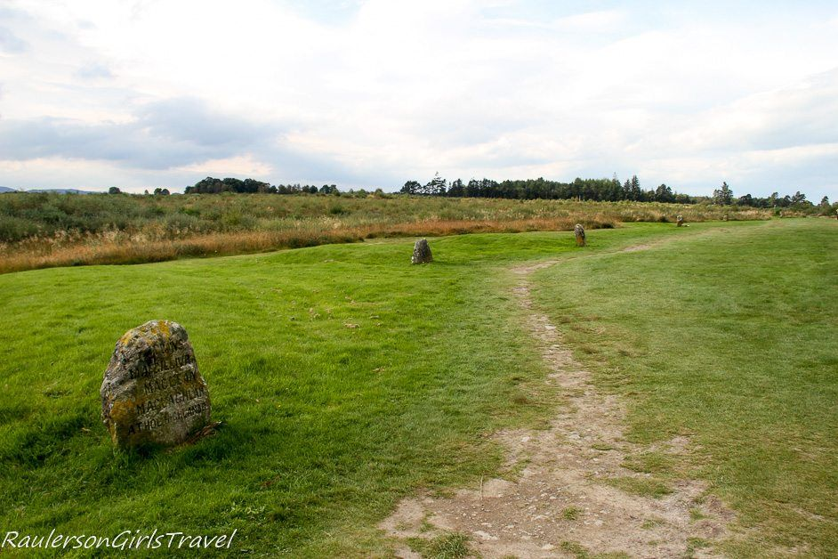Clan markers at Culloden Moor