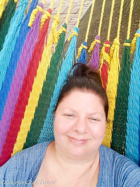 Lying in a hammock at Spruce Street Harbor