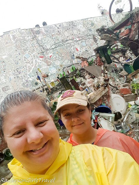 Heather and Kayla at the Magic Gardens in Philadelphia