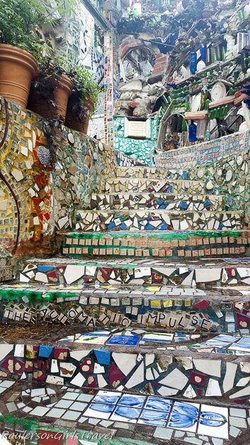 Tiled stairs at the Magic Garden