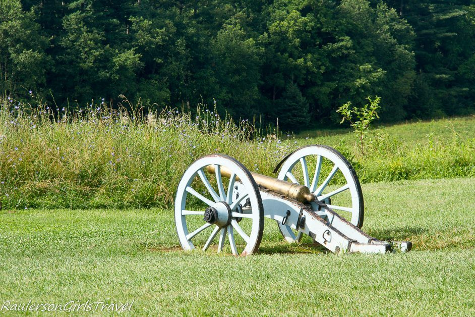 canon resting at Valley Forge