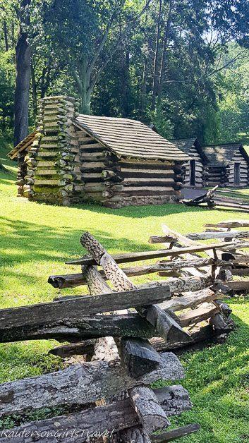 Washington's guards huts at Valley Forge