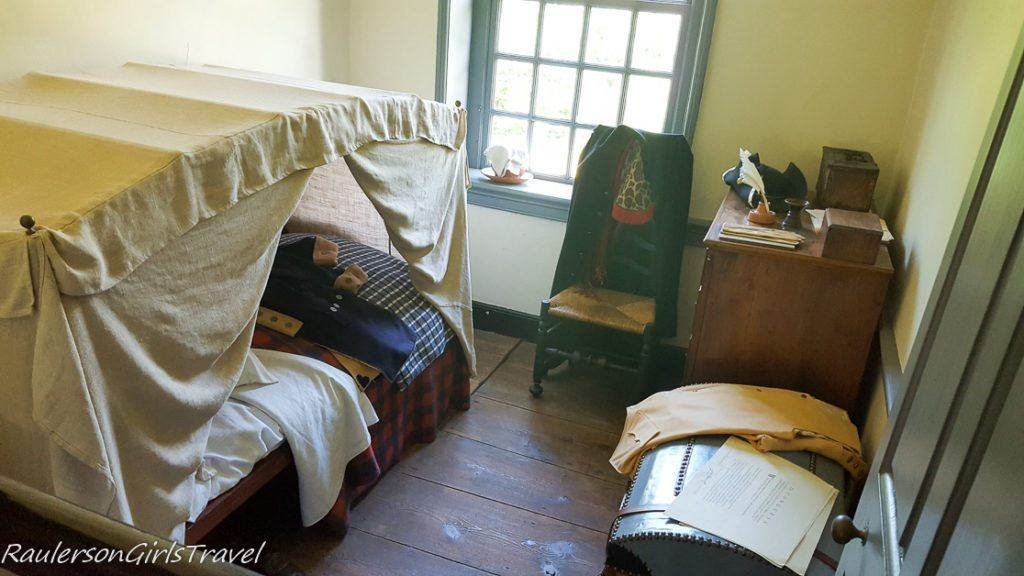 bedroom at Washington's Headquarters at Valley Forge