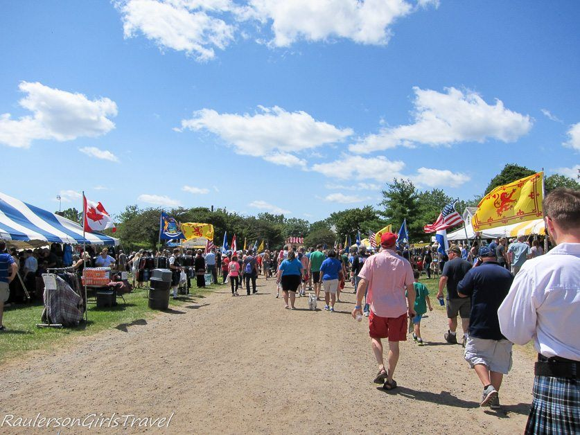 Vendors at the Highland Games