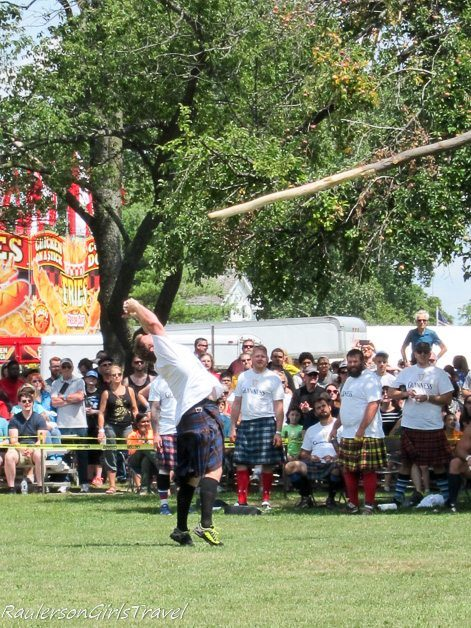 Releasing the cabor at the Highland Games