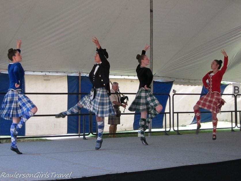 Dancing competition at the Highland Games