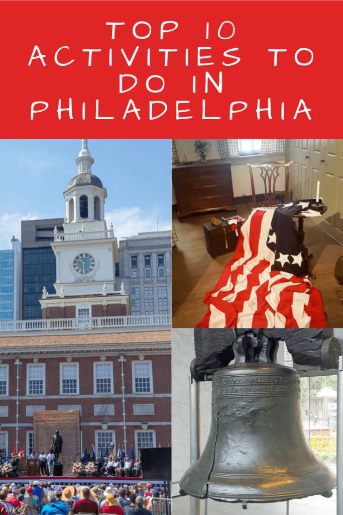 Activities to do in Philadelphia Pinterest Pin