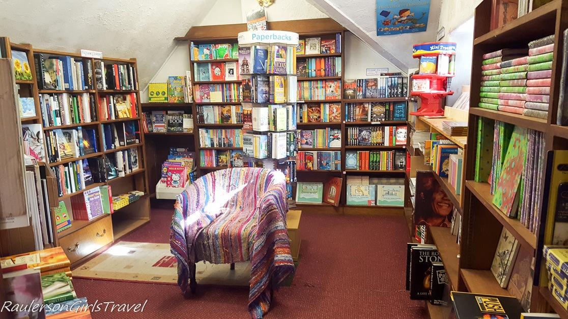 Inside Fred's Ambleside Bookshop
