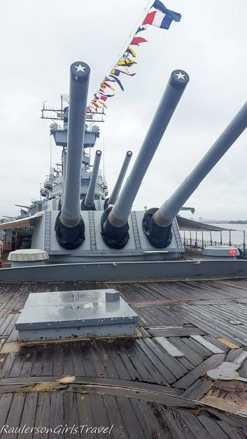 Gus on the top deck of USS New Jersey