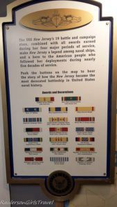 Awards and Medals of USS New Jersey