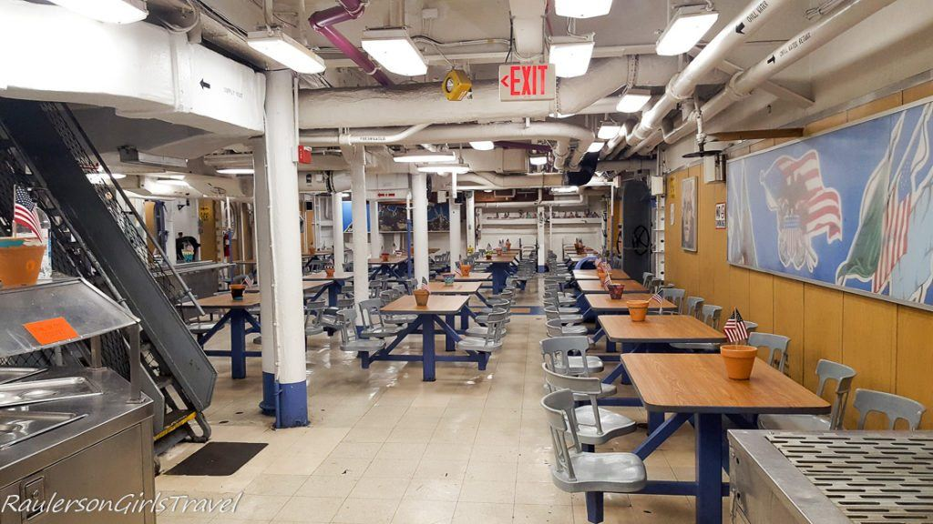 Dining room in USS New Jersey