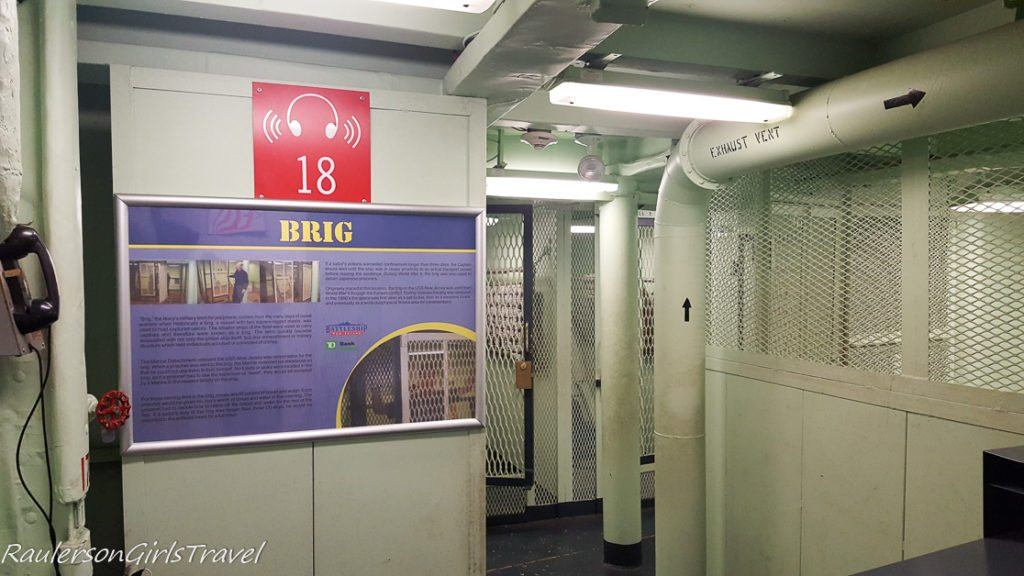 The Brig in USS New Jersey